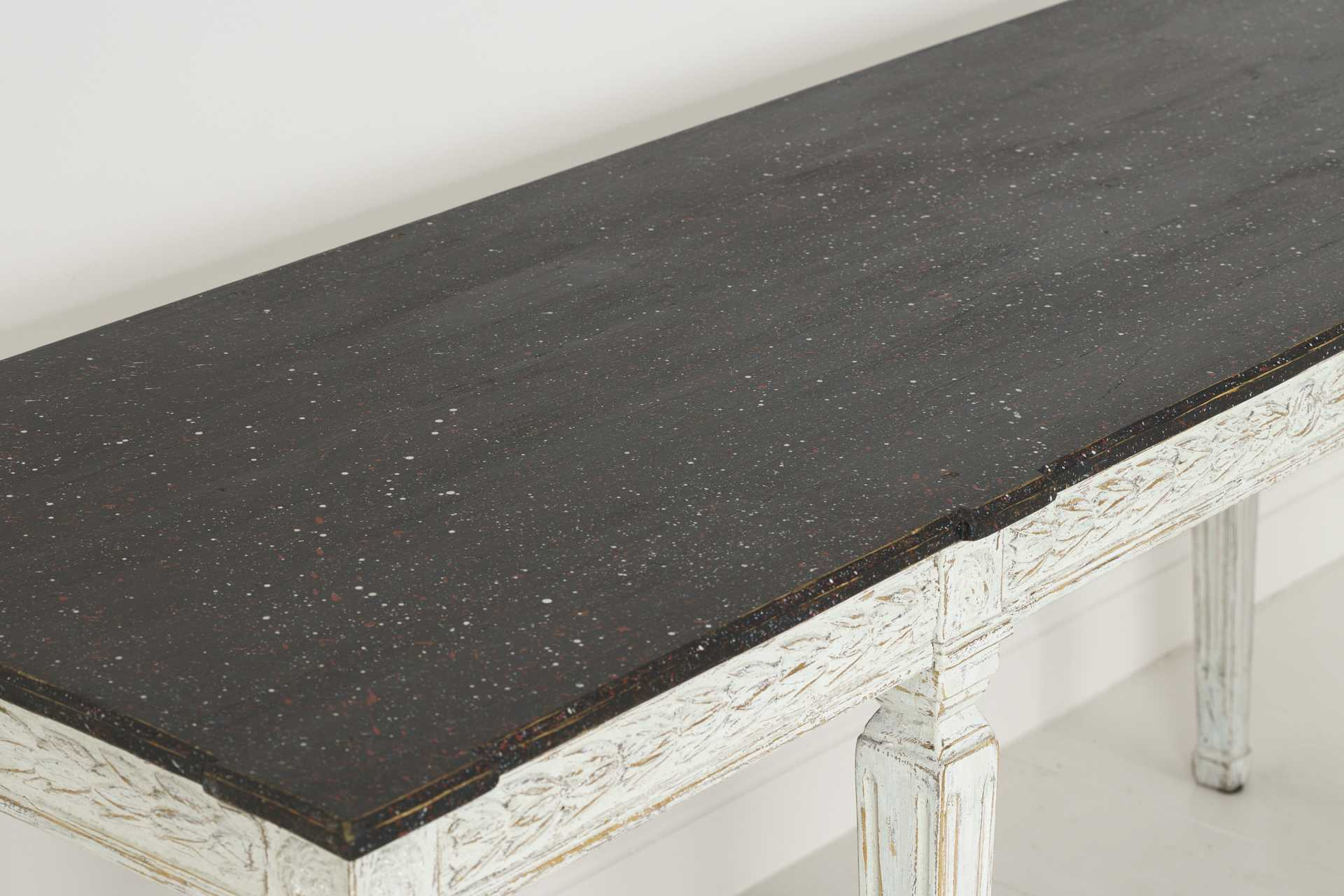 47e57b179c4ed 19th Century Swedish Late Gustavian Console Table with Hand Painted  Porphyry Top. Previous Next